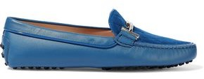 Tod's Quilted Suede Moccasins