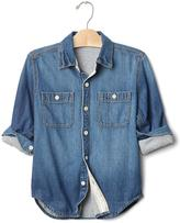 Gap 1969 Jersey-Lined Denim Shirt