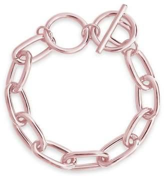 Sterling Forever 14K Rose Gold Plated Linked Bracelet