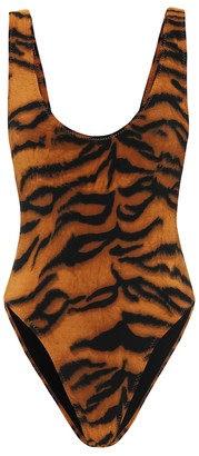 Norma Kamali Exclusive to Mytheresa Marissa tiger-print swimsuit