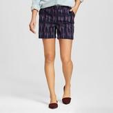 Merona Women's Printed Chino Shorts Navy