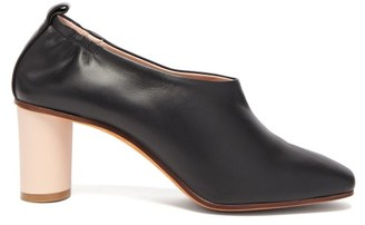 Gray Matters Micol Block-heel Leather Pumps - Womens - Black Nude