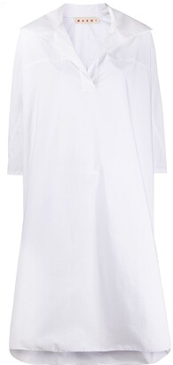 Marni deep V-neck shift dress