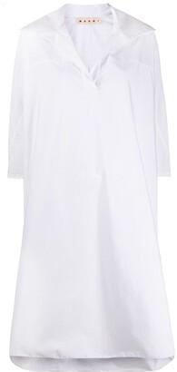 Marni deep V-neck shift dress