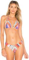 Luli Fama Zig Zag Reversible Bikini Top
