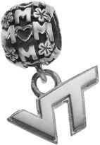 "Dayna U Sterling Silver Virginia Tech Hokies Team Logo ""Mom"" Charm"