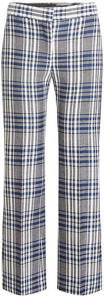 Alexander McQueen Virgin Wool Pants with Plaid Print