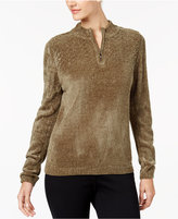 Alfred Dunner Chenille Half-Zip Sweater