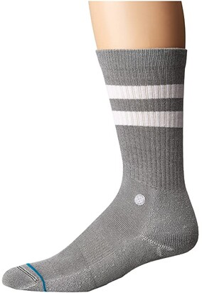 Stance Joven (Grey) Men's Crew Cut Socks Shoes