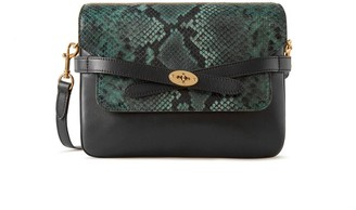 Mulberry Belted Bayswater Satchel Green and Black Python Printed Leather and Silky Calf