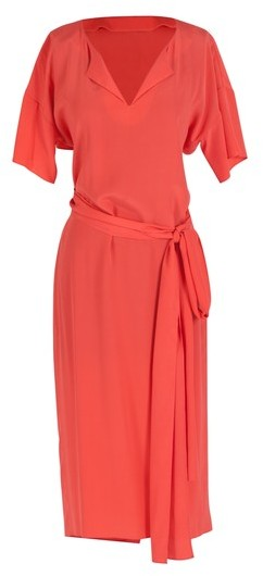 Anne Valerie Hash Cross Wrap Coral Dress