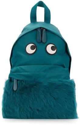 Anya Hindmarch eye shearling backpack