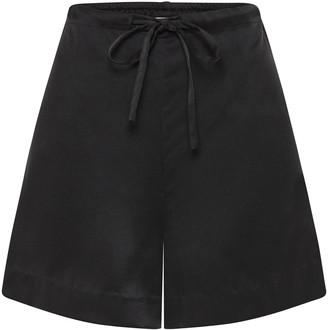 St. Agni Norma Silk Drawstring Shorts