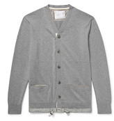 Sacai - Slim-fit Shell-trimmed Cotton And Cashmere-blend Cardigan