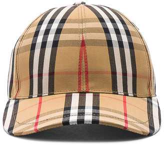 Burberry Vintage Check Baseball Cap in Antique Yellow Check | FWRD