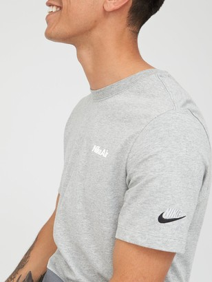 Nike Sportswear Air Blocked Short Sleeve Tee - Dark Grey