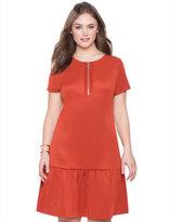 ELOQUII Plus Size Front Zip Scuba Dress