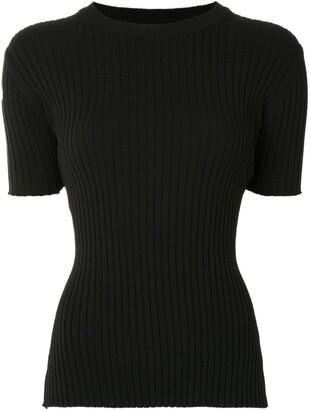 ANNA QUAN Bebe crew neck rib-knit top
