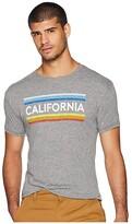 Original Retro Brand The Vintage California Stripe Tri-Blend Tee (Streaky Grey) Men's T Shirt