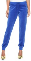 Juicy Couture Modern Track Slim Velour Pant