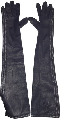 Jil Sander Blue Suede Gloves
