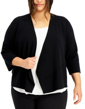 Thumbnail for your product : Alfani Plus Size Cozy Open-Front Cardigan, Created for Macy's