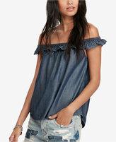 Denim & Supply Ralph Lauren Off-The-Shoulder Denim Shirt