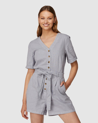 Princess Highway - Women's Blue Jumpsuits - Ellie Playsuit - Size One Size, 6 at The Iconic