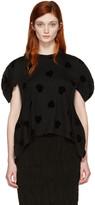 Comme des Garcons Black Velveteen Hearts T-shirt
