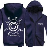 Splendid-Dream Zip-up Jacket Splendid-Dream Unisex Long sleeve Naruto Full Zip Sweatshirt Hooded (XL, )