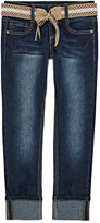 Arizona Belted Cuffed Ankle Pants - Girls 7-16