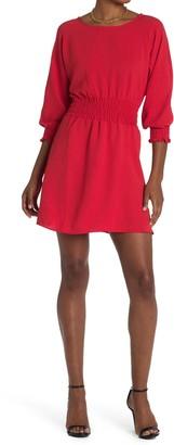 MSK Crinkle Twill Smocked Waist Dress