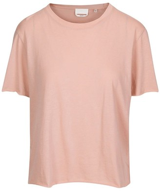 7 For All Mankind Raw Edge Tee in Light Blush