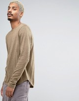 Asos Crew Neck Sweater with Curved Hem