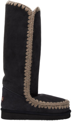 Mou SSENSE Exclusive Black 40 Tall Boots