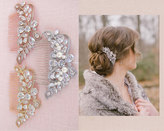 Etsy Rose Gold Bridal Comb, Yellow Gold Wedding Comb, Wedding Headpiece, Large Linneah Hair Comb