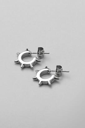 Weekday Spike Hoop Earrings - Silver