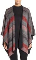 Ming Wang Women's Reversible Knit Poncho Jacket