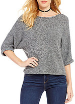 Copper Key Drop Shoulder Elbow-Sleeve Sweater