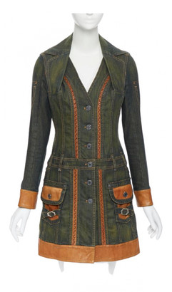 Christian Dior Green Denim - Jeans Dresses