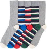 Howick 5 Pack Even Stripe Socks