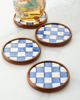 Mackenzie Childs Royal Check Coasters, Set Of 4