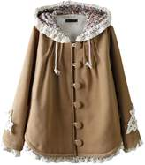 Partiss Women's Sweet Lolita Lace Hoodie Cloak