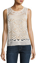 Willow and Clay Crochet Scoop-Neck Tank
