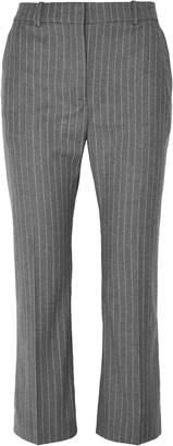 Altuzarra Cropped Pinstriped Wool-blend Flared Pants