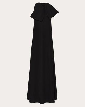 Valentino Cady Couture Evening Dress Women Black Silk 100% 40
