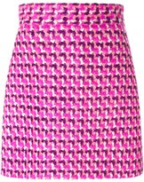 MSGM tweed A-line skirt