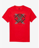 Express red 3D crowned lion graphic t-shirt