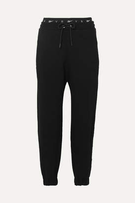 Reebok x Victoria Beckham Cotton-jersey Track Pants - Black