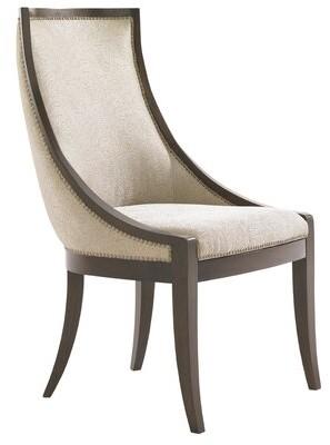 Lexington Tower Place Talbott Host Upholstered Dining Chair in Cobblestone